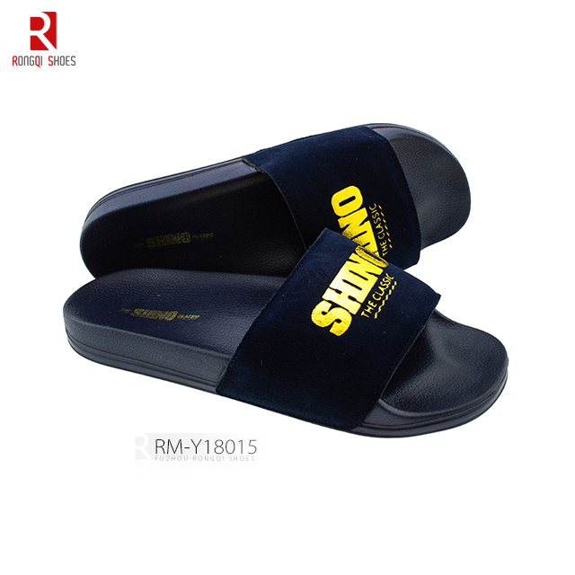 Outdoor suede slip-on outdoor men's EVA sole slide slippers
