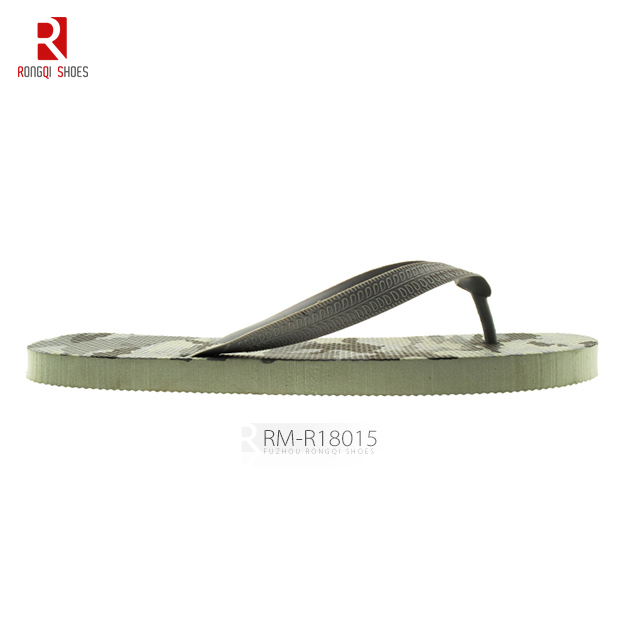 Summer beach PE outsole V-strap upper men's flip-flops