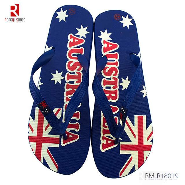 Cheap customized wholesale beach men's flip-flops slider sandals