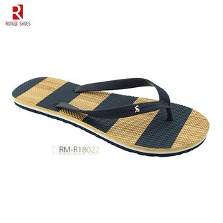 Chinese beach wholesale price fancy PE men's flip flops