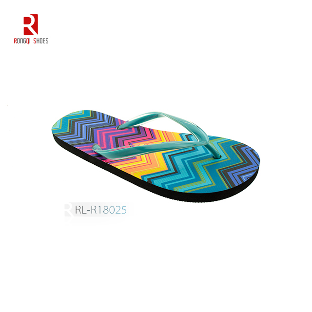 Colorful high quality cheap pe women flip flop