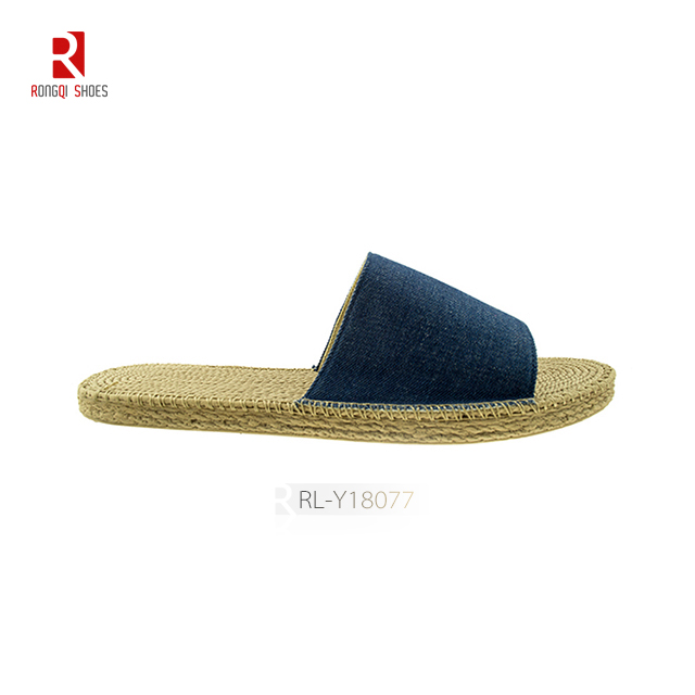 Cheap jute bottom wholesale china made women slippers