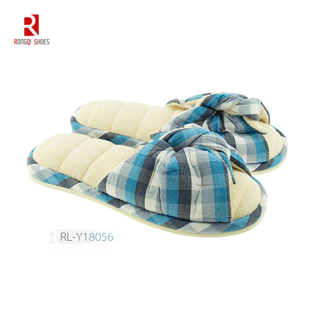 Cotton padded fashion women slippers
