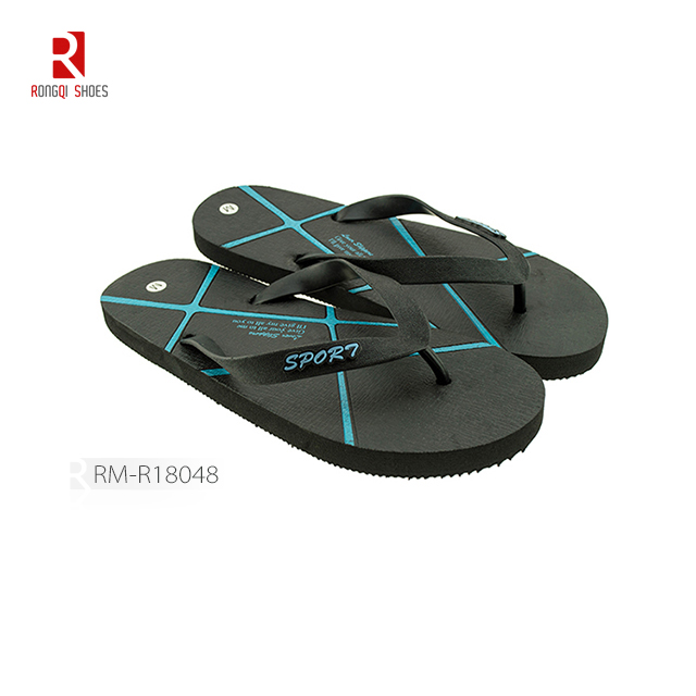 Wholesale customized outdoor beach EVA PE outsole flip flops for men
